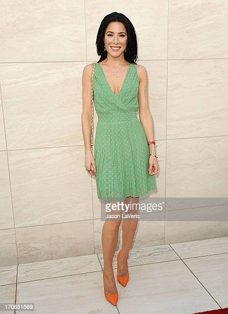 Actress Jaime Murray attends the 'Dexter' series finale season premiere party at Milk Studios on June 15 2013 in Hollywood California
