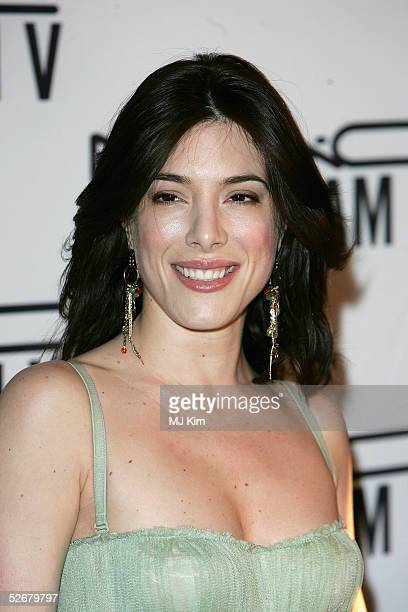 Actress Jaime Murray attends the MAC VIVA GLAM V party launching MAC Cosmetics latest charity lipstick at Home House April 21, 2005 in London. All...