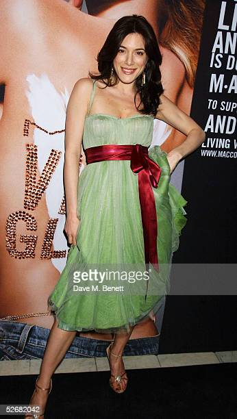Actress Jaime Murray attends the MAC VIVA GLAM V party launching MAC Cosmetics' latest charity lipstick at Home House on April 21, 2005 in London....
