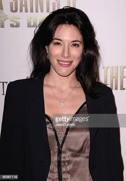 Actress Jaime Murray attends the premiere of The Boondock Saints II All Saints Day at ArcLight Cinemas on October 28 2009 in Hollywood California
