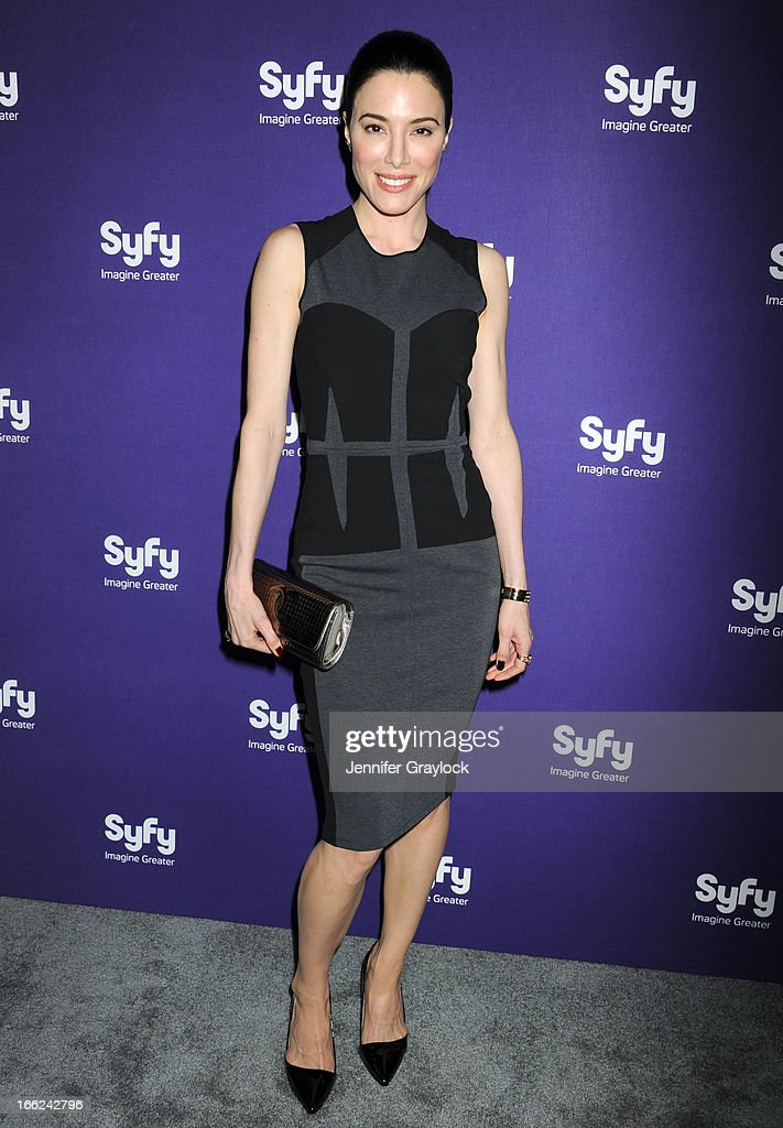 Actress Jaime Murray attends the Syfy 2013 Upfront at Silver Screen Studios at Chelsea Piers on April 10, 2013 in New York City.