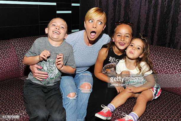 Actress Jaime Pressly and family visit the Hard Rock Hotel San Diego on March 26 2016 in San Diego California
