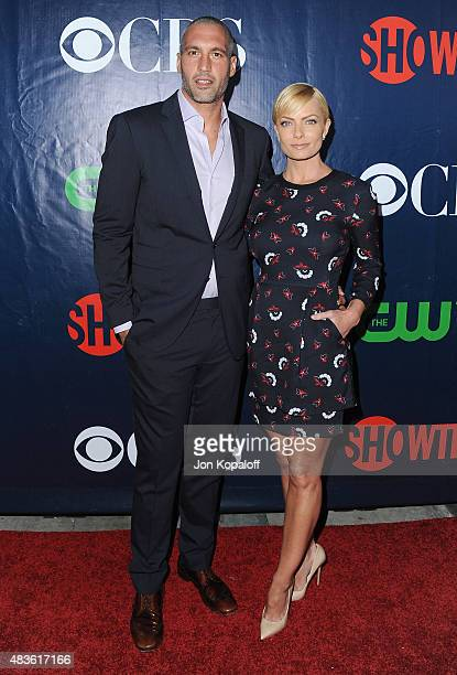 Actress Jaime Pressly and Hamzi Hijazi arrive at CBS CW And Showtime 2015 Summer TCA Party at Pacific Design Center on August 10 2015 in West...