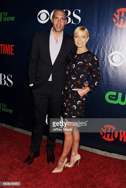 Actress Jaime Pressly and Hamzi Hijazi arrive at the CBS CW And Showtime 2015 Summer TCA Party at Pacific Design Center on August 10 2015 in West...