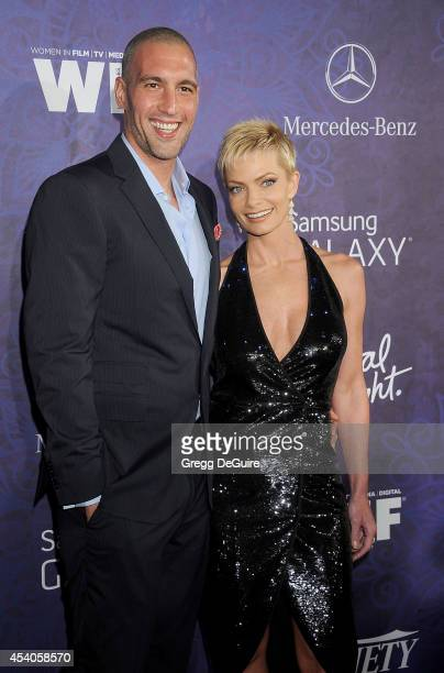 Actress Jaime Pressly and Hamzi Hijazi arrive at the Variety And Women In Film Annual PreEmmy Celebration at Gracias Madre on August 23 2014 in West...