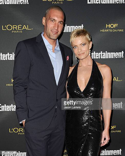 Actress Jaime Pressly and Hamzi Hijazi attend the 2014 Entertainment Weekly preEmmy party at Fig Olive Melrose Place on August 23 2014 in West...