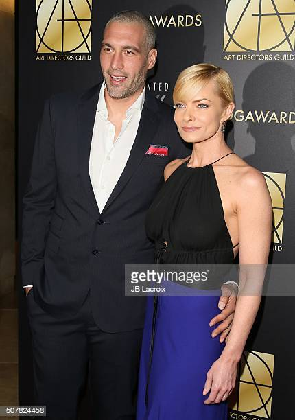 Actress Jaime Pressly and Hamzi Hijazi attend the Art Directors Guild 20th Annual Excellence in Production Awards at The Beverly Hilton Hotel on...