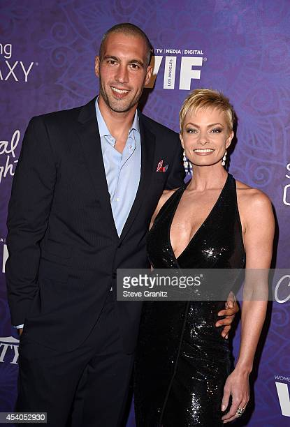 Actress Jaime Pressly and Hamzi Hijazi attend Variety and Women in Film Annual PreEmmy Celebration at Gracias Madre on August 23 2014 in West...