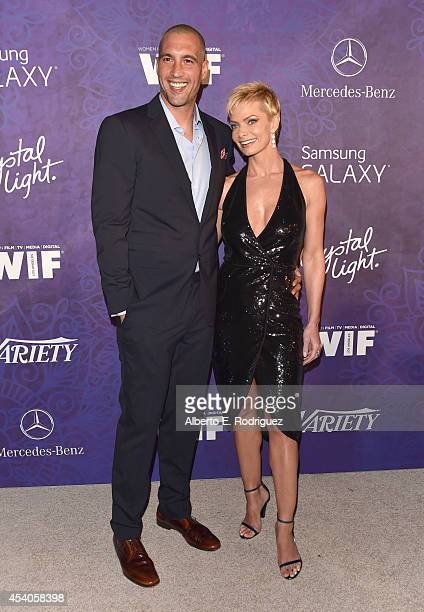 Actress Jaime Pressly and Hamzi Hijazi attend Variety and Women in Film Emmy Nominee Celebration powered by Samsung Galaxy on August 23 2014 in West...