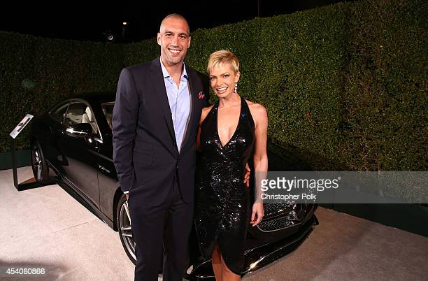 Actress Jaime Pressly and Hamzi Hijazi attends Variety and Women in Film Emmy Nominee Celebration powered by Samsung Galaxy on August 23 2014 in West...