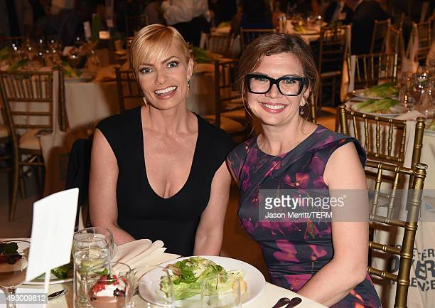Actress Jaime Pressly and 'Mom' CoCreator Gemma Baker attend The 44th Annual Peace Over Violence Humanitarian Awards at Dorothy Chandler Pavilion on...
