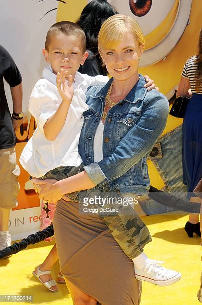 Actress Jaime Pressly and son Dezi arrive at the Los Angeles premiere of 'Despicable Me 2' at Universal CityWalk on June 22 2013 in Universal City...