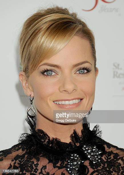 Actress Jaime Pressly arrives at the 50th Anniversay Benefit Gala of St Jude Children's Research Hospital at The Beverly Hilton Hotel on January 7...