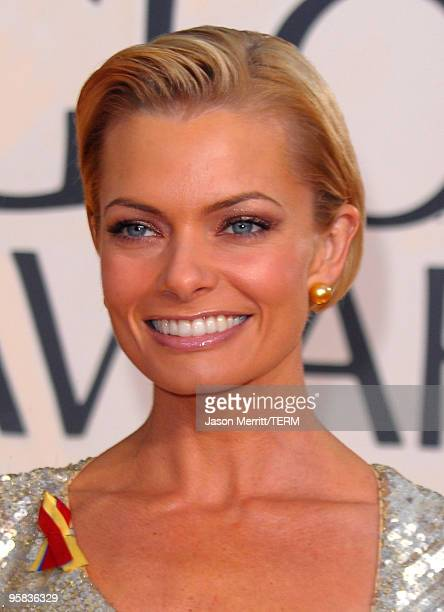Actress Jaime Pressly arrives at the 67th Annual Golden Globe Awards held at The Beverly Hilton Hotel on January 17 2010 in Beverly Hills California