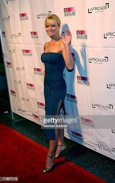 Actress Jaime Pressly arrives at the AIDS Healthcare Foundation Hot In Hollywood Party at the Henry Fonda Theatre on August 12 2006 in Los Angeles...
