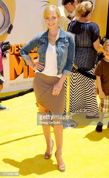 Actress Jaime Pressly arrives at the Los Angeles premiere of 'Despicable Me 2' at Universal CityWalk on June 22 2013 in Universal City California