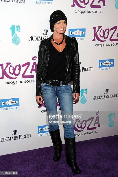 Actress Jaime Pressly arrives for the Cirque Du Solei Opening Night Gala For Kooza at the Santa Monica Pier on October 16 2009 in Santa Monica...