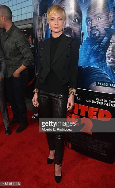 Actress Jaime Pressly arrives to the premiere of Open Road Films' 'A Haunted House 2' at Regal Cinemas LA Live on April 16 2014 in Los Angeles...