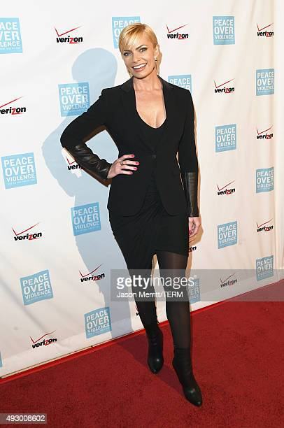 Actress Jaime Pressly attends The 44th Annual Peace Over Violence Humanitarian Awards at Dorothy Chandler Pavilion on October 16 2015 in Los Angeles...