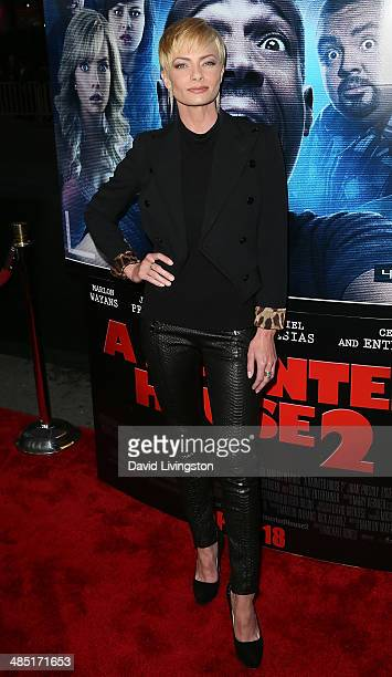 Actress Jaime Pressly attends the premiere of Open Road Films' 'A Haunted House 2' at Regal Cinemas LA Live on April 16 2014 in Los Angeles California