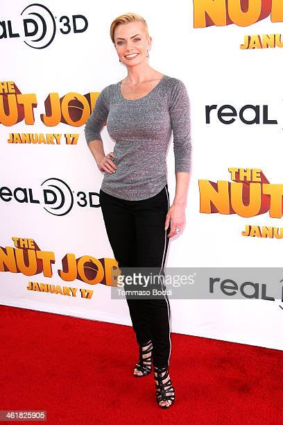 Actress Jaime Pressly attends the premiere of Open Road Films' 'The Nut Job' held at the Regal Cinemas LA Live on January 11 2014 in Los Angeles...
