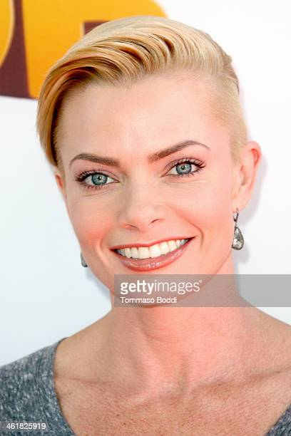 Actress Jaime Pressly attends the premiere of Open Road Films' The Nut Job held at the Regal Cinemas LA Live on January 11 2014 in Los Angeles...