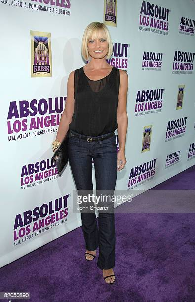 Actress Jaime Pressly attends the world premiere of ABSOLUT Los Angeles at The Kress on July 23 2008 in Hollywood California