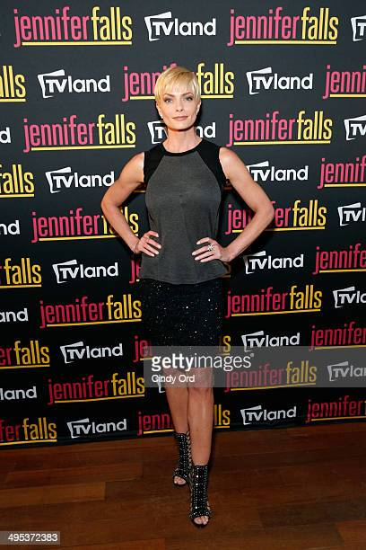 """Actress Jaime Pressly attends TV Land's """"Jennifer Falls"""" premiere party at Jimmy At The James Hotel on June 2, 2014 in New York City."""