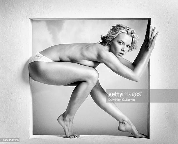 Actress Jaime Pressly is photographed for Maxim Magazine on December 1 2001 in Los Angeles California