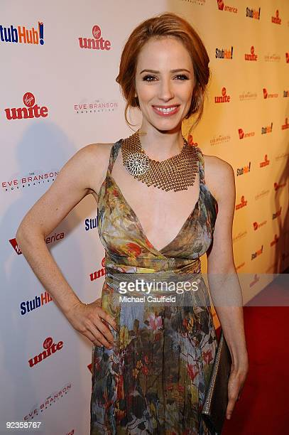 Actress Jaime Ray Newman arrives at Rock The Kasbah hosted by Sir Richard Branson and Eve Branson held at Vibiana on October 26 2009 in Los Angeles...