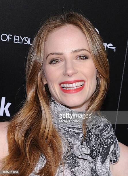 Actress Jaime Ray Newman arrives at The Art of Elysium's 2nd Annual Genesis Awards at Milk Studios on August 28 2010 in Hollywood California