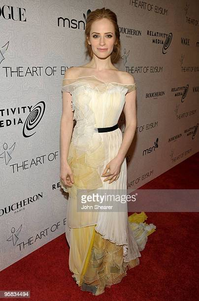 Actress Jaime Ray Newman arrives at The Art of Elysium's 3rd Annual Black Tie Charity Gala Heaven on January 16 2010 in Beverly Hills California