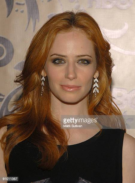 Actress Jaime Ray Newman arrives at the HBO Post Emmy Awards Reception at the Pacific Design Center on September 20 2009 in West Hollywood California