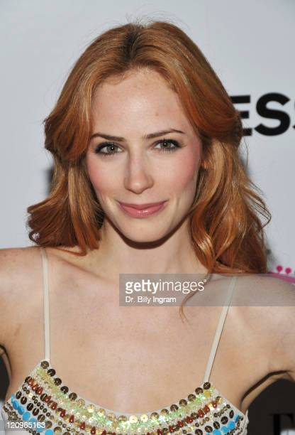 Actress Jaime Ray Newman attends Express Celebrates TXT L8TR Denim Campaign Launch Party at Nobu on July 29 2009 in West Hollywood California