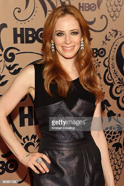 Actress Jaime Ray Newman attends HBO's post Emmy Awards reception at the Pacific Design Center on September 20 2009 in West Hollywood California