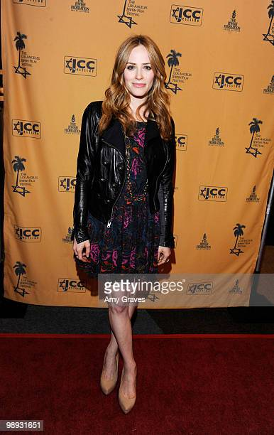 Actress Jaime Ray Newman attends the Los Angeles Jewish Film Festival Opening Night Gala on May 8 2010 in Los Angeles California