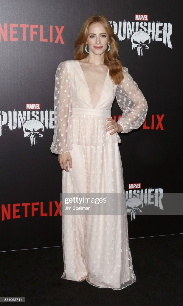 Actress Jaime Ray Newman attends the 'Marvel's The Punisher' New York premiere at AMC Loews 34th Street 14 theater on November 6, 2017 in New York City.
