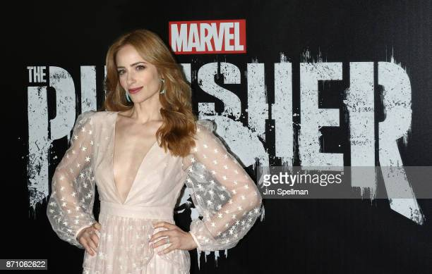 Actress Jaime Ray Newman attends the Marvel's The Punisher New York premiere at AMC Loews 34th Street 14 theater on November 6 2017 in New York City
