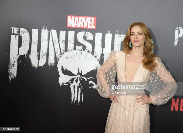 Actress Jaime Ray Newman attends the Marvel's The Punisher New York Premiere on November 6 2017 in New York City