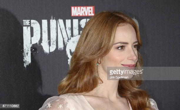 Actress Jaime Ray Newman attends the 'Marvel's The Punisher' New York premiere at AMC Loews 34th Street 14 theater on November 6 2017 in New York City