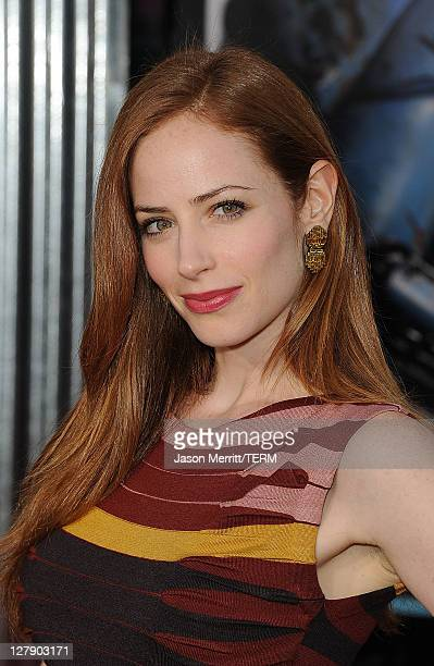 Actress Jaime Ray Newman attends the Real Steel Los Angeles Premiere at Gibson Amphitheatre on October 2 2011 in Universal City California