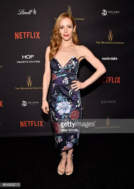 Actress Jaime Ray Newman attends The Weinstein Company and Netflix Golden Globe Party presented with DeLeon Tequila Laura Mercier Lindt Chocolate...