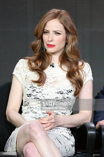 Actress Jaime Ray Newman of Red Widow speaks onstage during the ABC portion of the 2013 Winter TCA Tour at Langham Hotel on January 10 2013 in...