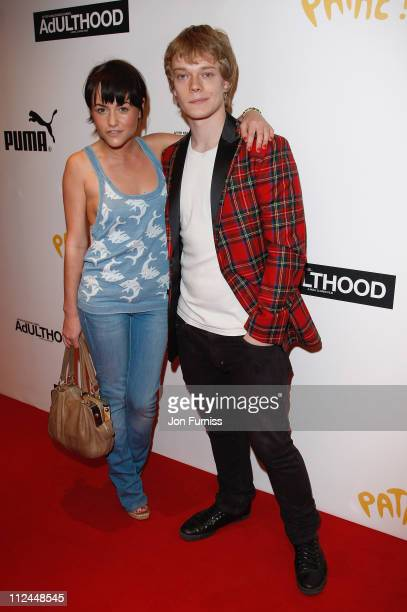Actress Jaime Winstone and actor Alfie Allen attend the Adulthood film premiere held at the Empire Leicester Square on June 17, 2008 in London,...