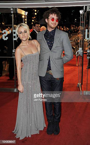 Actress Jaime Winstone and Tom Beard attend the Made in Dagenham world premiere at the Odeon Leicester Square on September 20 2010 in London England