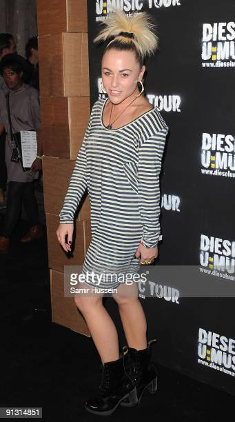 Actress Jaime Winstone arrives at the DieselUMusic World Tour Party held at the University of Westminster on October 1 2009 in London England