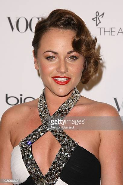 Actress Jaime Winstone attends the Art Of Elysium Heaven Gala 2011 at The California Science Center Exposition Park on January 15 2011 in Los Angeles...