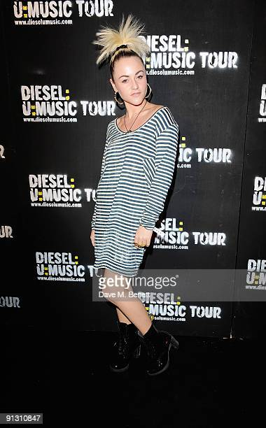 Actress Jaime Winstone attends the DieselUMusic World Tour Party held at the University of Westminster on October 1 2009 in London England