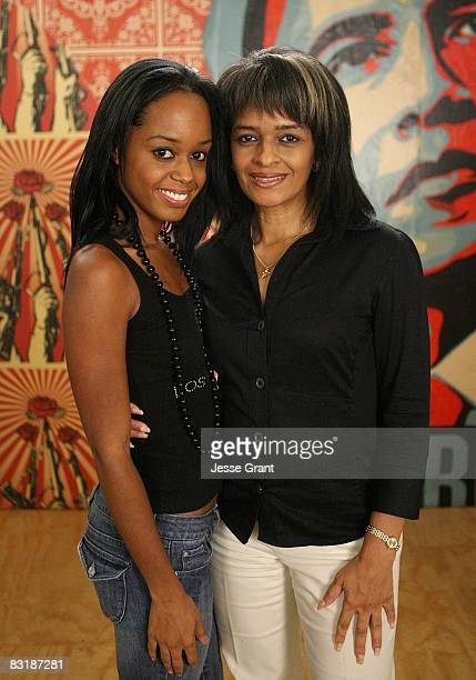Actress Jaimee Foxworth and Gwen Fox attend Shepard Fairey's Vote For Change shoot at Subliminal Projects gallery on October 7 2008 in Los Angeles...
