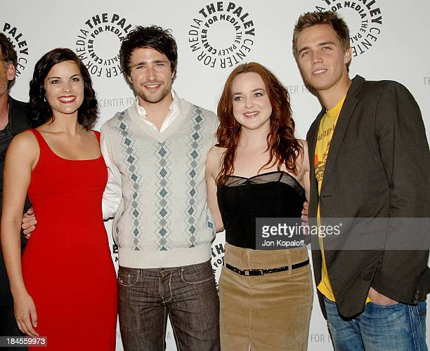 Actress Jaimie Alexander actor Matt Dallas actress April Matson and actor Chris Olivero arrive at 'Kyle XY' presented by The Paley Center Events for...